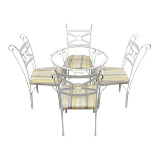 Metal Dining Bistro Table & Chairs - Set of 5