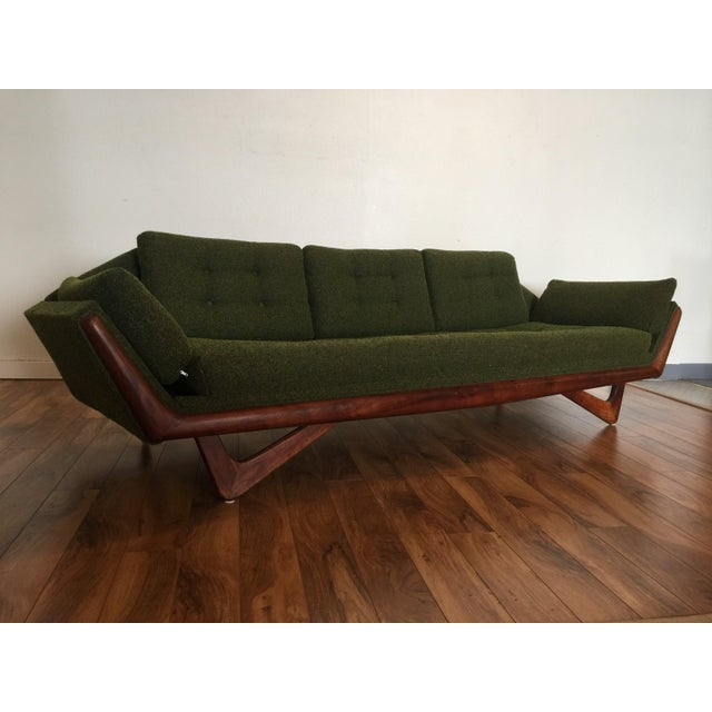 Adrian Pearsall Craft Associates Mid-Century Gondola Sofa - Image 7 of 11