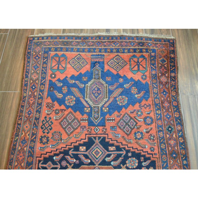 "Antique Persian Bidjar Long Rug - 4'5"" x 8'3"" - Image 4 of 9"