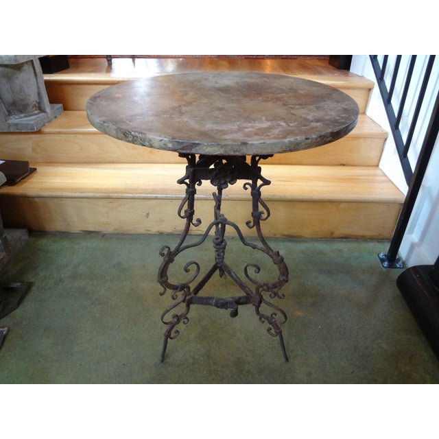 Image of 19th Century French Iron Gueridon