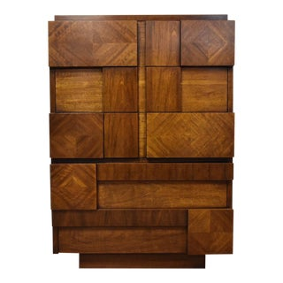 Lane Brutalist Tall Dresser