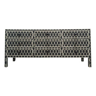 Black Bone Inlay Geometric Dresser