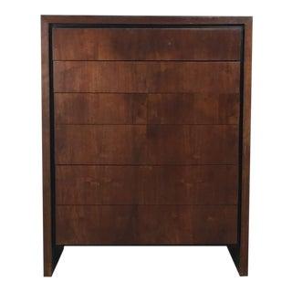 Walnut Highboy Six Drawer Dresser by Milo Baughman for Dillingham