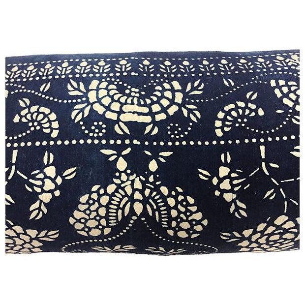 Indigo Batik Body Pillow W/ Foo Dogs - Image 5 of 6