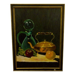 """Vintage """"Tea Kettle"""" Painting by John Micheal"""