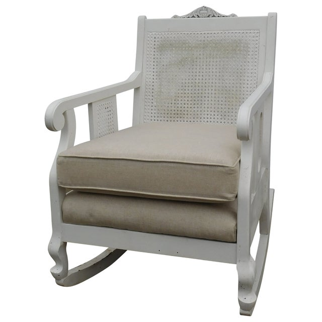 Vintage Cane Rocking Chair - Image 1 of 7