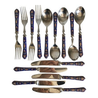 Inlaid Enamel Flatware - 15Pieces