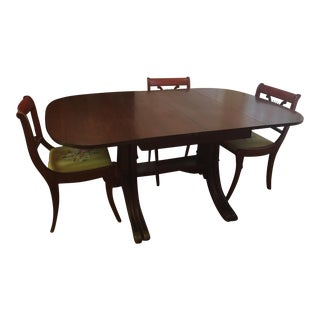 Drexel Heritage Vintage Mahogany Dining Set -Table and 6 Chairs