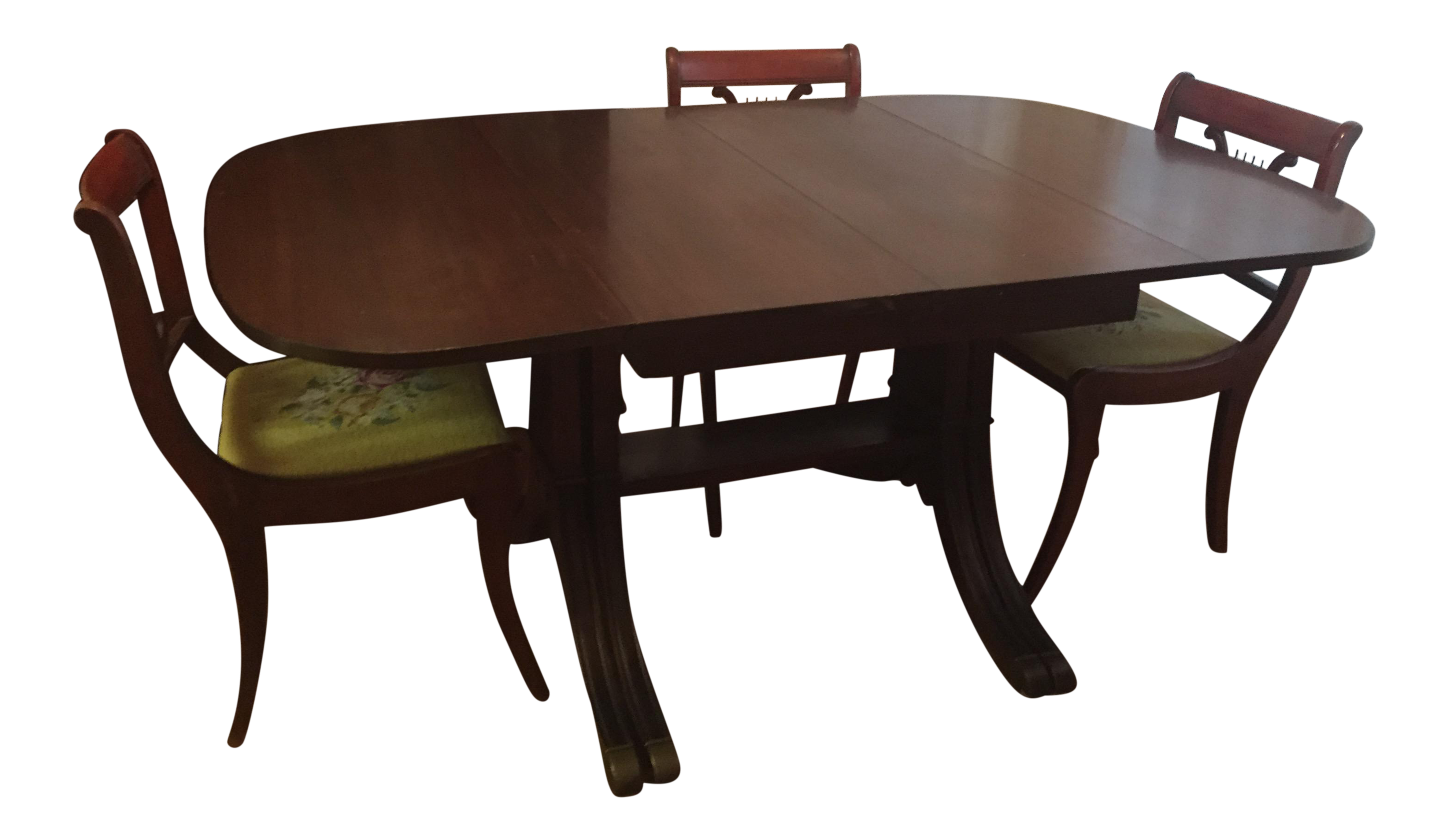 Drexel Heritage Vintage Mahogany Dining Set  Table And 6 Chairs