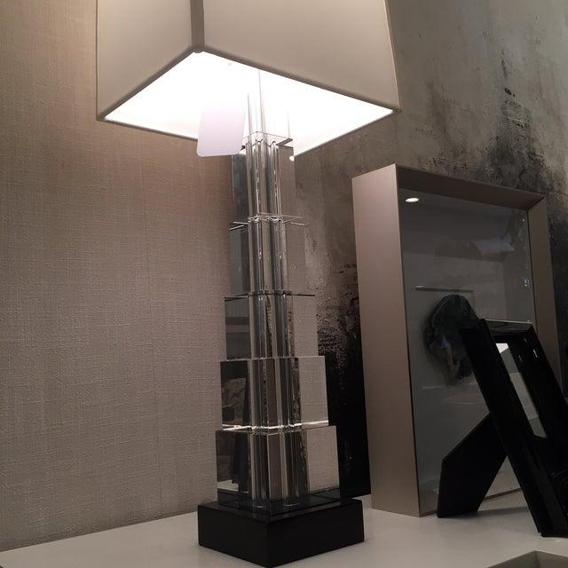 Skyscraper Crystal Lamps - Pair - Image 4 of 7