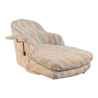 Milo Baughman for Thayer Coggin 1980s Chaise Longue with Table