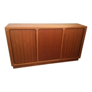 Sun Cabinet Teak Credenza with Tambour Doors