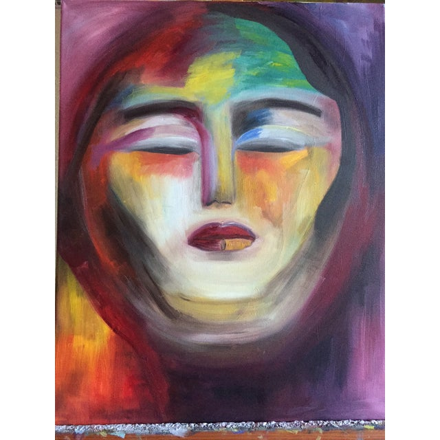 """Warrior Goddess"" Abstract Oil Painting - Image 2 of 2"