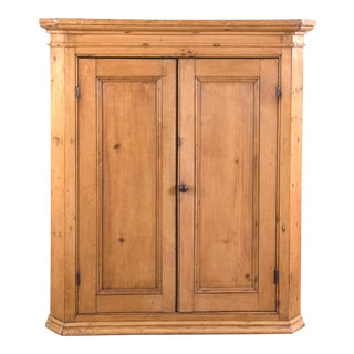 Antique Pine Hanging Corner Cupboard
