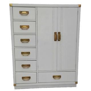 Drexel White Lacquer Campaign Dresser