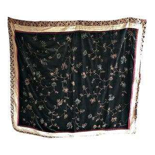 Silk & Velvet Embroided Throw