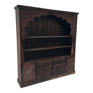 Indian Hand Carved Bookcase