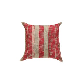 Red & Tan Striped Pillow