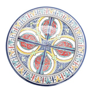 Atlas Large Multicolored Plate