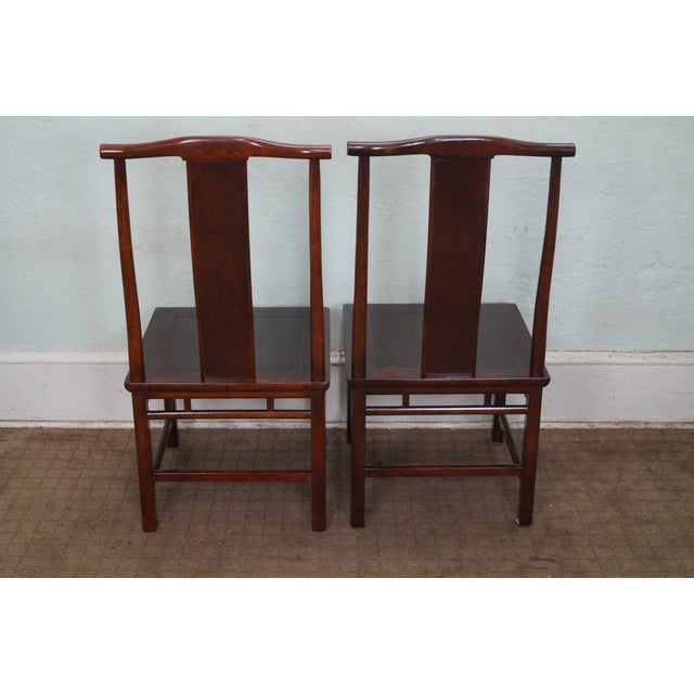 Baker Asian Mahogany Dining Chairs - Set of 8 - Image 4 of 10