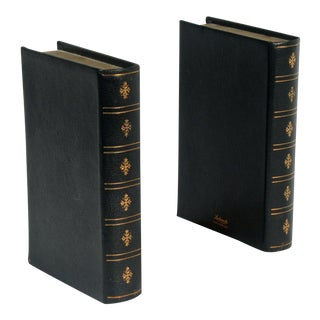 English Leather Bookends- A Pair