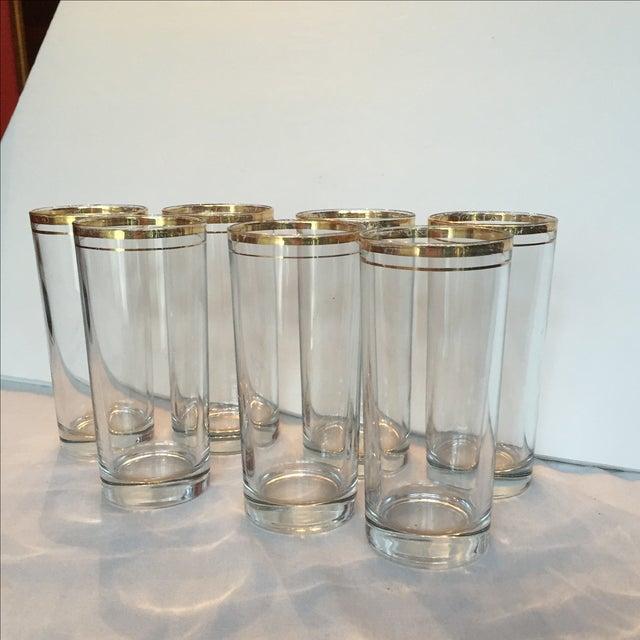 Gold Trimmed Glasses - Set of 7 - Image 8 of 10