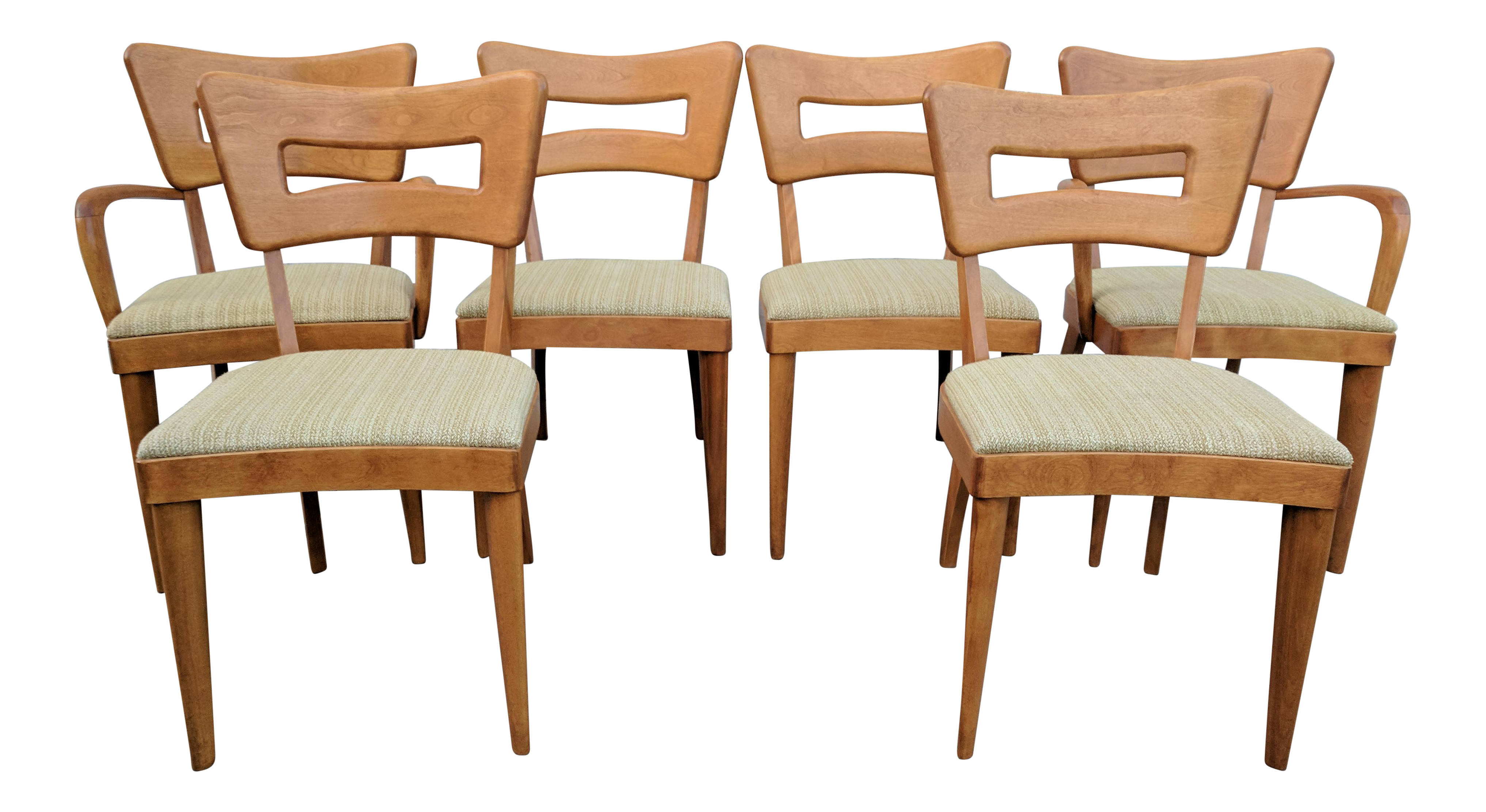 Mid Century Modern Heywood Wakefield Dogbone Dining Chairs   Set Of 6
