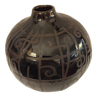 Maitland-Smith Black Glazed Vase