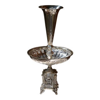 19th Century French Louis XV Silver Plated Epergne Centerpiece