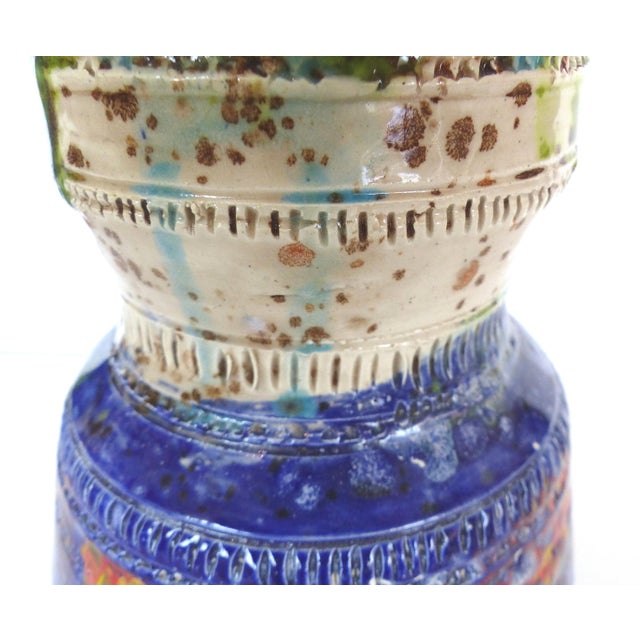Multi-Colored Glazed Ceramic Vase by Gary Fonseca - Image 4 of 8
