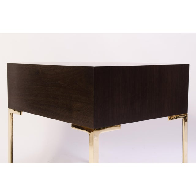 Astor Nightstands in Contrasting Ebony & Ivory by Montage - Pair - Image 6 of 11