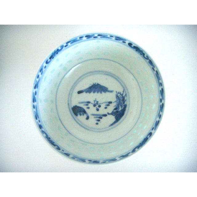 Blue & White Chinese Rice Bowl With Stand - Image 2 of 4