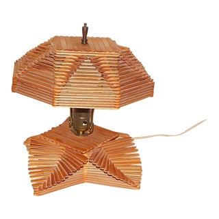 Folk Art Popsicle Stick Lamp