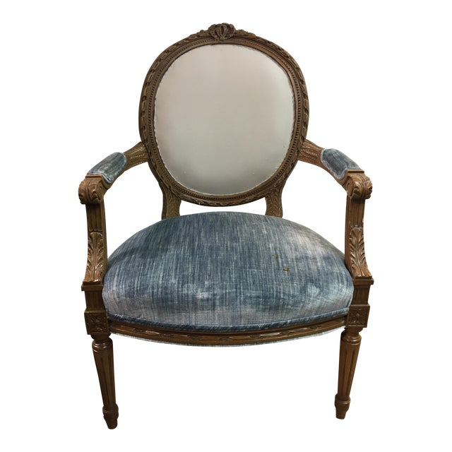 Vintage Louis XIV Fauteuil Chair - Image 1 of 5