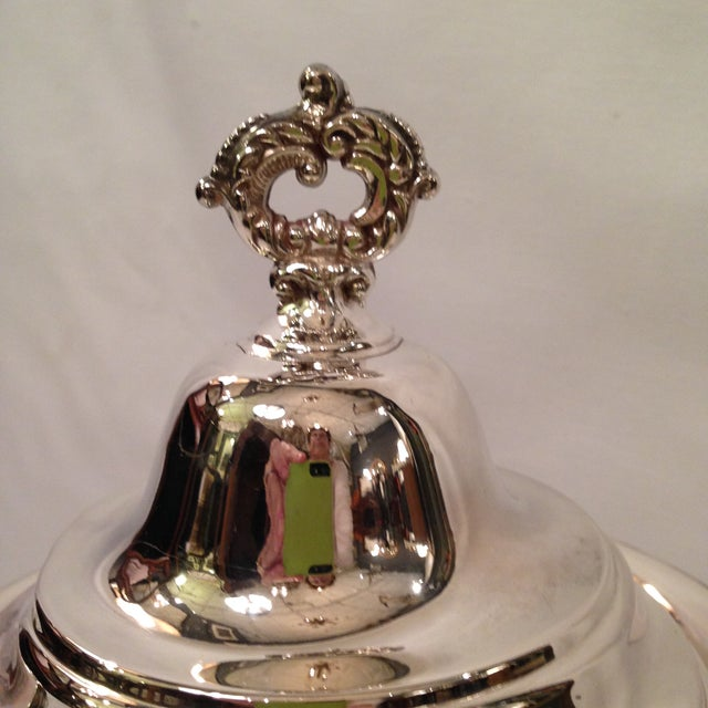 Image of Vintage Silver Plate Footed Coffee Pot