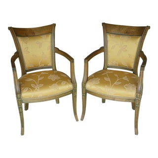 Hand-Carved European Accent Chairs - a Pair