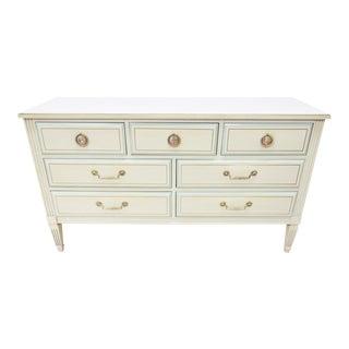 Louis XVI Cream & Turquoise Dresser