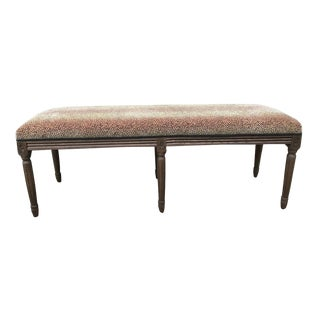 French Provincial Upholstered Bench