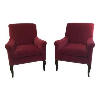 Crate & Barrel Savoir Velvet Chair - Set of 2