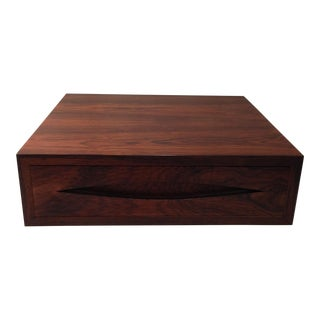 "Arne Vodder rosewood storage box from the ""Bowtie"" series"