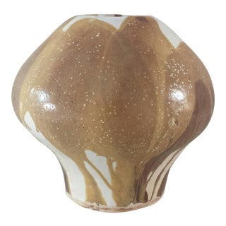 Mid-Century Modern Tan Sculptural Vase