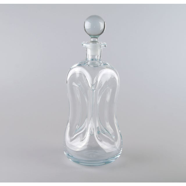 Holmegaard Kluk Kluk Hand Blown Glass Decanter - Image 2 of 9