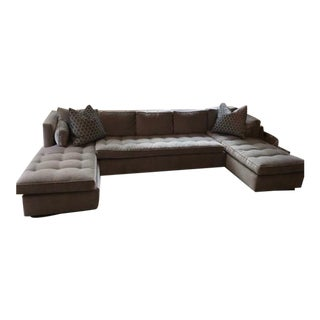 Duralee Boxed Back Sectional Sofa