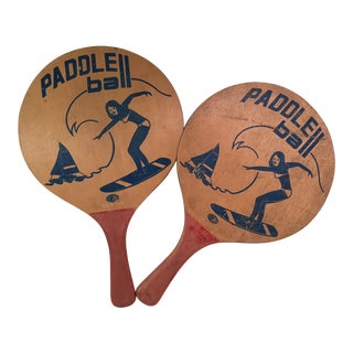 Vintage Paddle Ball Boards - A Pair