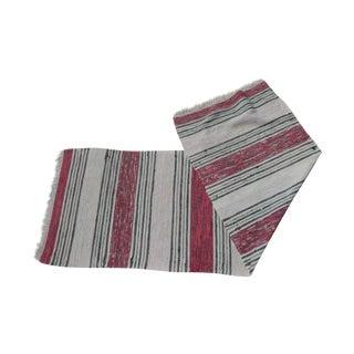 Swedish Hand Woven Rag Rug - 2′4″ × 7′1″