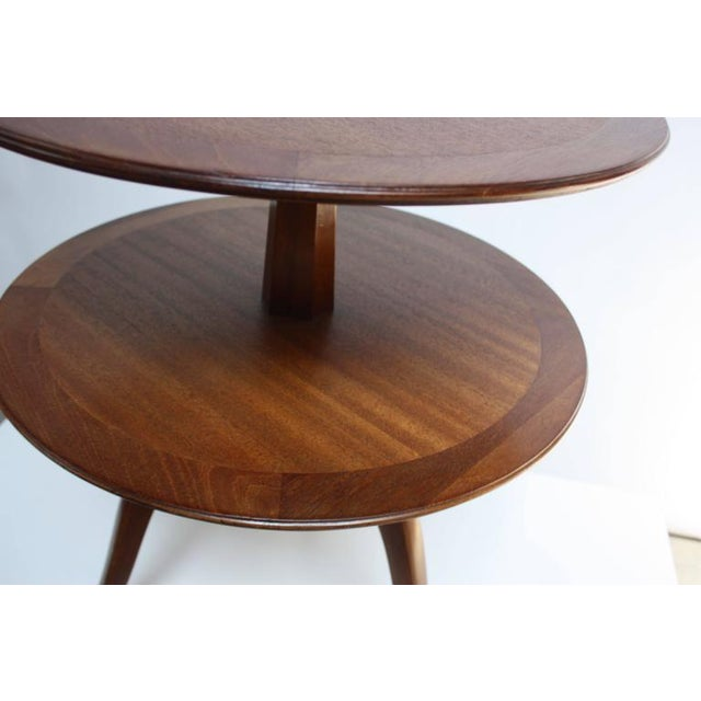 Edward Wormley for Dunbar, Two-Tier Mahogany Occasional Table - Image 9 of 10