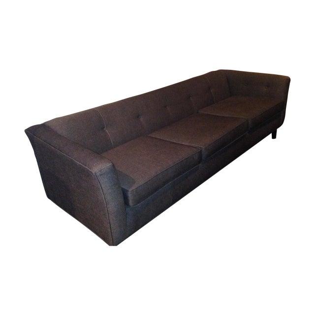 Mid-Century Black Sofa - Image 1 of 5