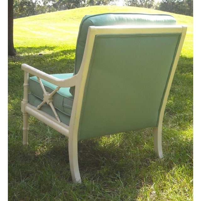 Image of Mid-Century Faux Bamboo Lounge Chair