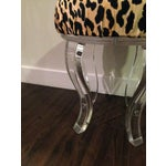 Image of Lucite & Braemore Leopard Vanity Stool