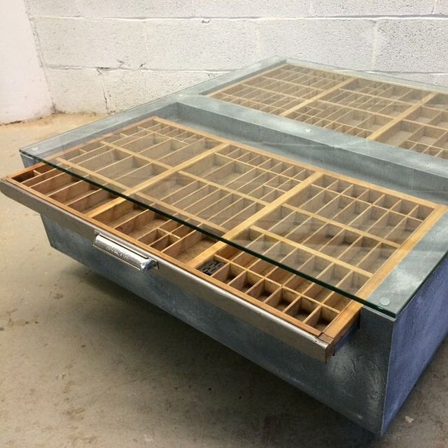 Faux Concrete Type Tray Coffee Table - Image 4 of 4
